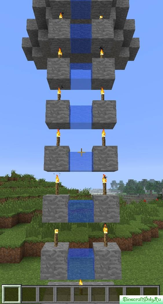 """Простейший и эффективный лифт. """" MinecraftOnly """" начать игру на лучших серверах майнкрафт"""
