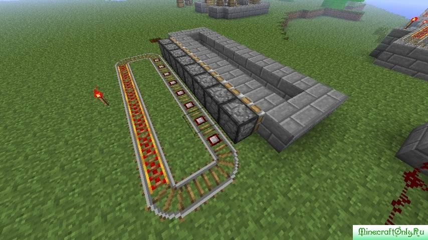 Minecraft схема железной дороги