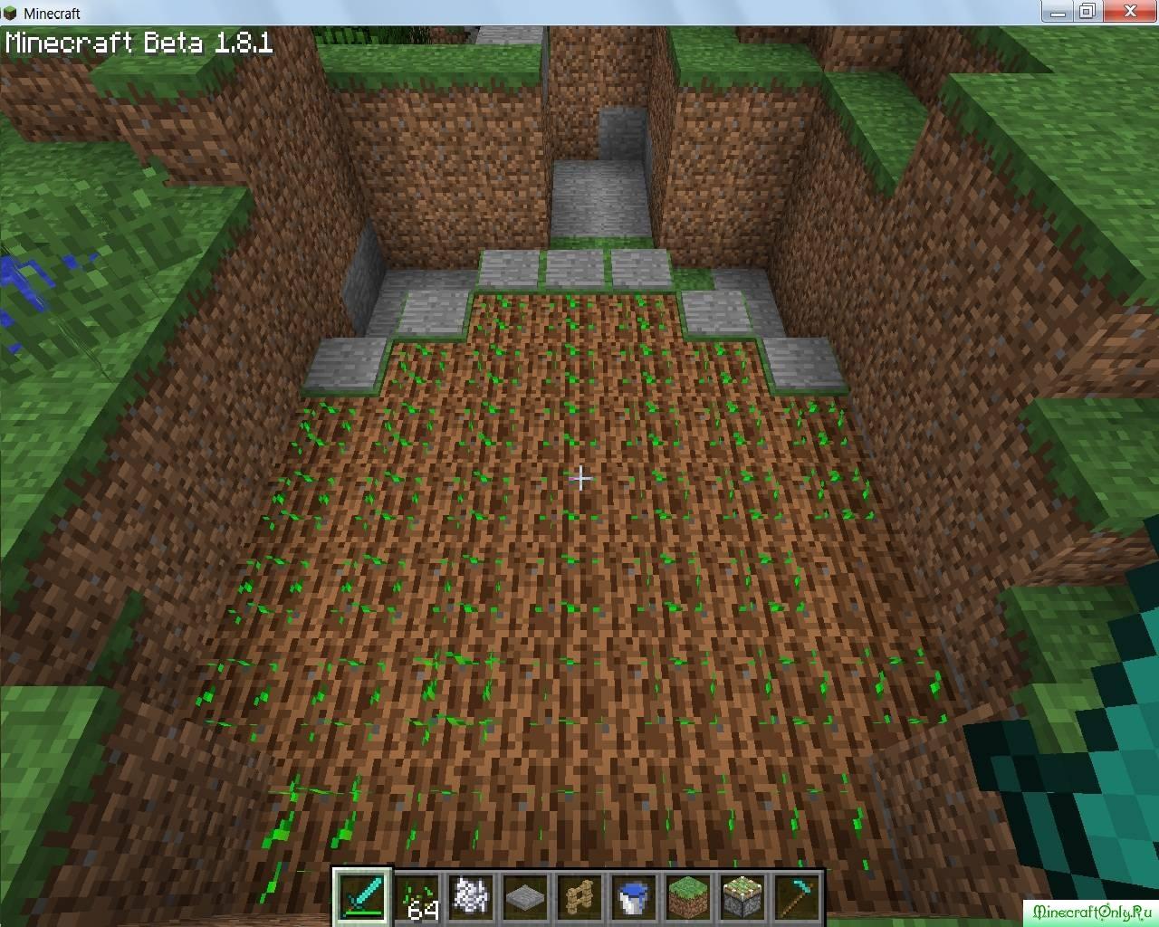 как в майнкрафте вырастить пшеницу #5