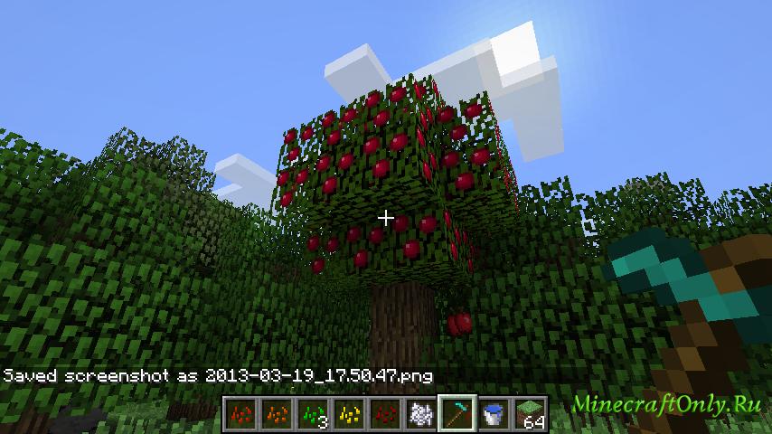 как найти яблоки в майнкрафт 0.13.1 #7