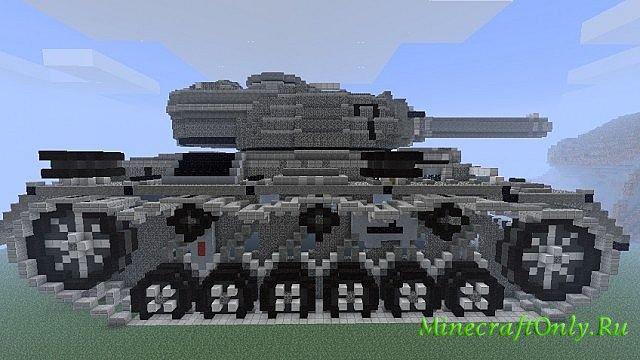 """1939 WWII Tank """" MinecraftOnly """" начать игру на лучших серверах майнкрафт"""