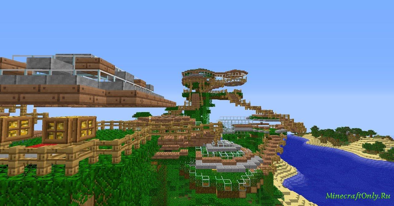 карта дом на дереве для minecraft pe #7