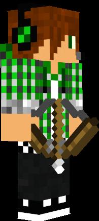 скачать скин парня в капюшоне для Minecraft - фото 9