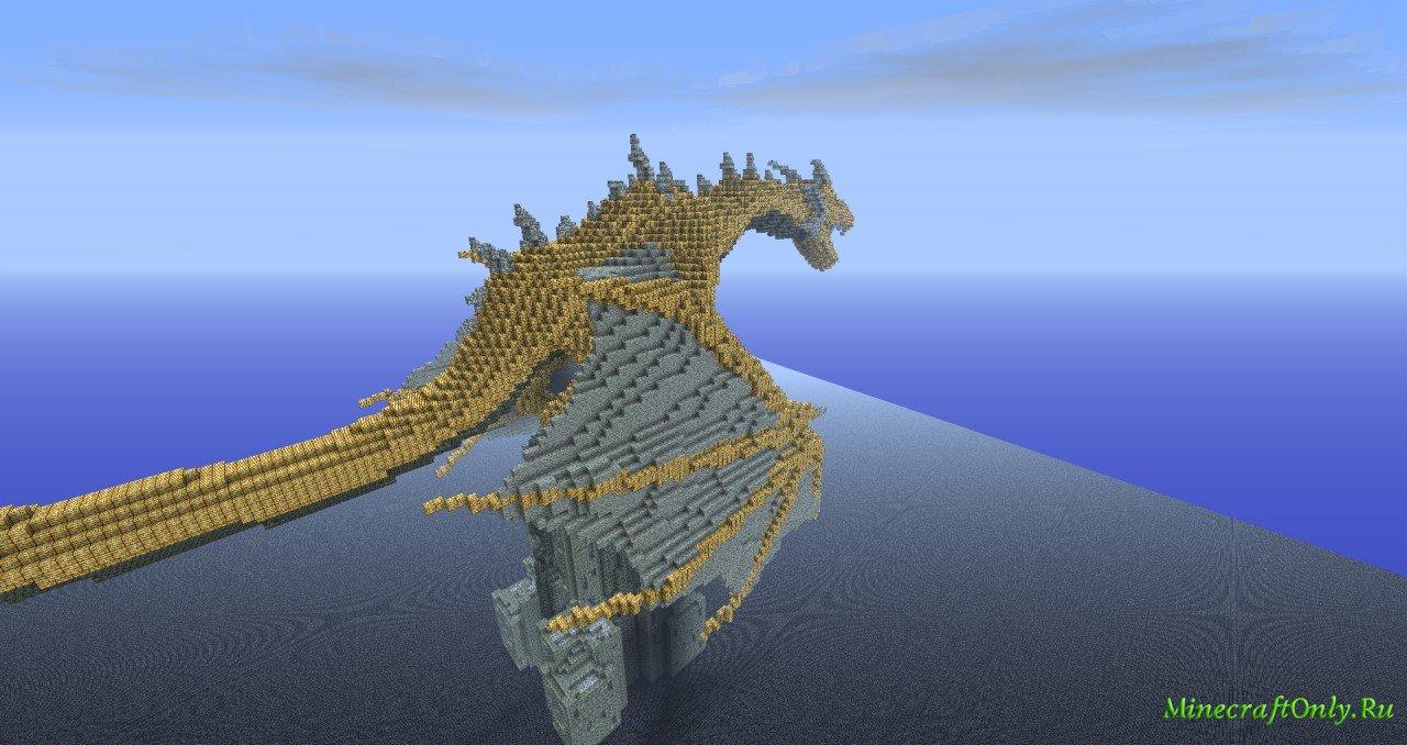 карты майнкрафт с драконом