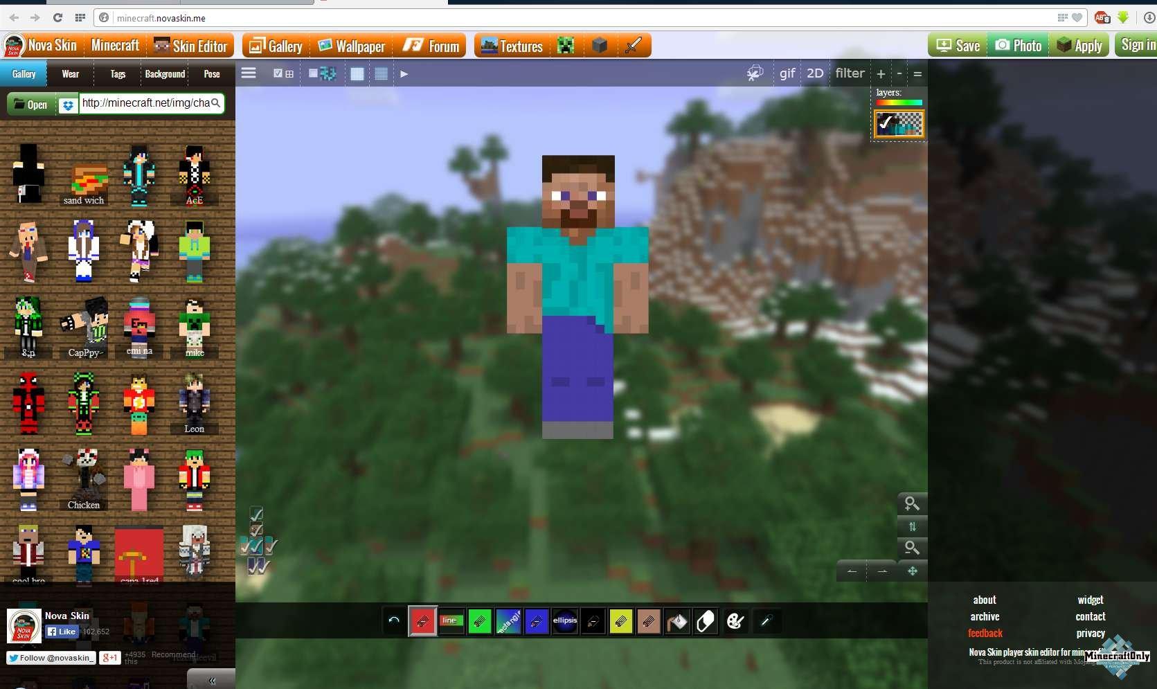 """Сделать скин для minecraft """" Всё для игры Minecraft Сайт делать скины для майнкрафт"""