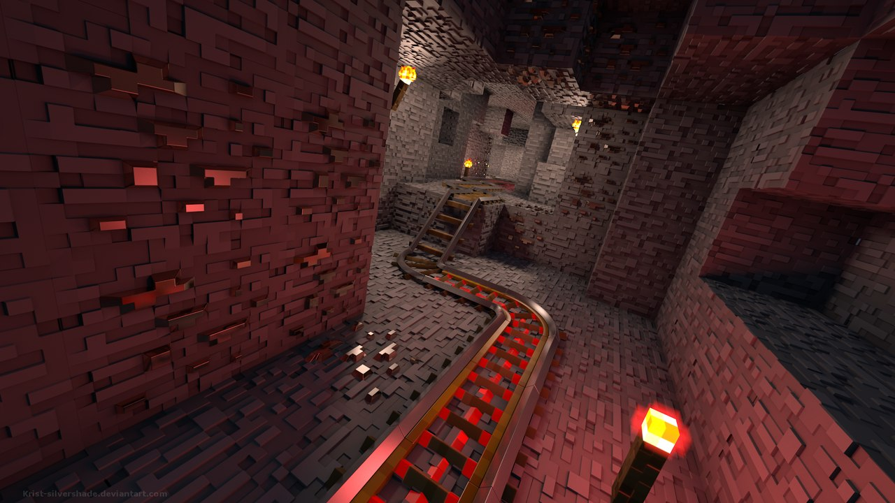 Факел и кирка / minecraft / обои на рабочий стол.