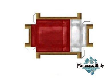 Как сделать из бумаги в майнкрафте кровать