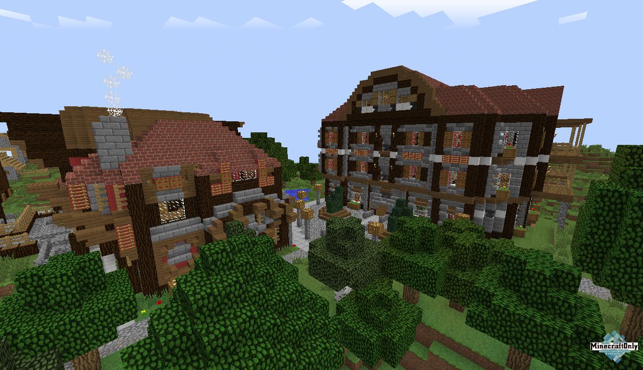 Xamans medieval town в майнкрафт