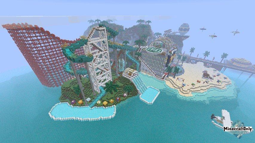 аквапарк в майнкрафте карта #10