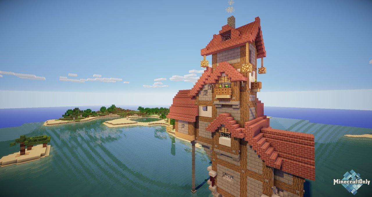 домик в лесу коло моря в майнкрафт #3