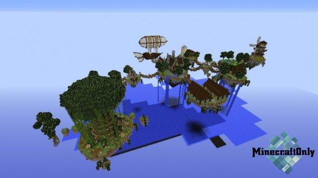 скачать мод на летающие острова с сундками для майнкрафт 1.7.10 #7