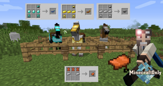 [1.8.1][Mods] Craftable Horse Armor & Saddle