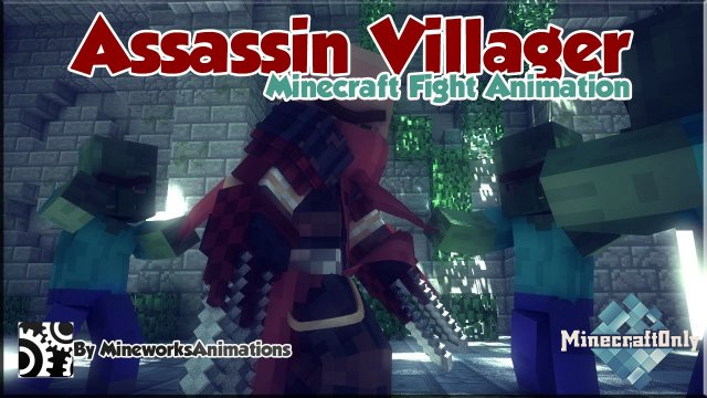 Assassin Villager (Minecraft Fight Animation)