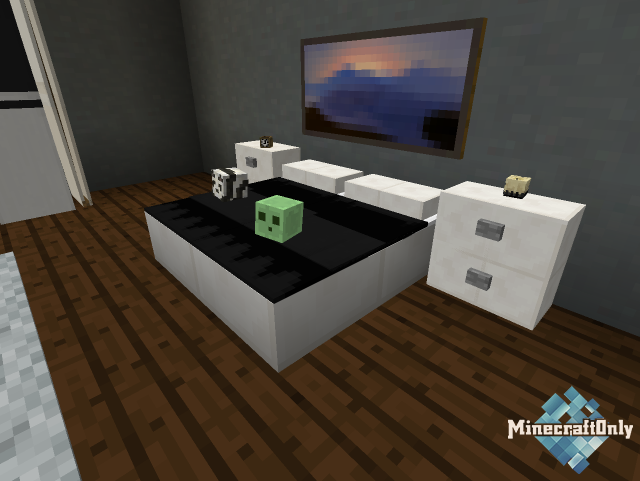 [1.9 - 1.10] Modern Bedroom Furniture - Новая мебель в Minecraft