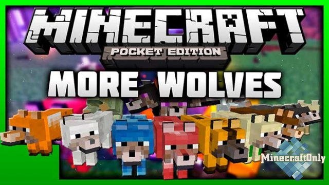 [Мод PE] More Wolves 1.2