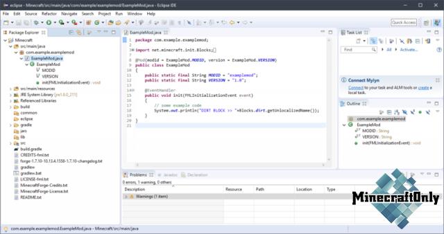 Создание модификаций с помощью Forge/1.7+ [Урок 1]