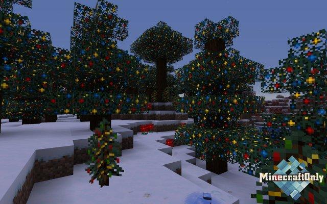 Новогодние текстуры Minecraft | Christmas Pack [1.15]