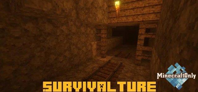 Survivalture - темный криповый ресурспак