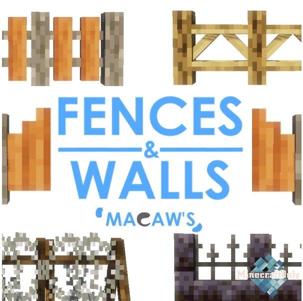 Macaw's Fences and Walls - новые заборы и стены, декор