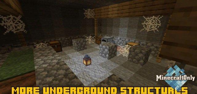 More underground structures - больше видов подземных структур